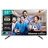 Hisense 55' QLED 4K 2021 55E78GQ, Quantum Dot, Smart TV VIDAA 5.0, HDR Dolby Vision, Audio Dolby...