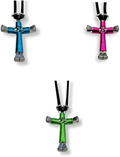 25 Pack Horseshoe Nail Cross Necklaces (Assorted Colors)