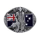 SDENSHI Hebilla de Cinturón Caballero Bandera Australiana Vaquero Occidental Hebillas de Cinturón Regalo