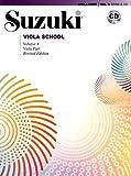 Suzuki Viola School Viola Part & CD, Volume 4 (Revised): Viola Part, Book & CD
