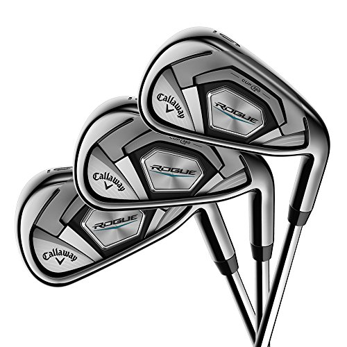 Callaway Golf 2018 Men's Rogue Irons Set (Set of 8 Total Clubs: 4-PW, SW, Right Hand, Synergy, Senior Flex)