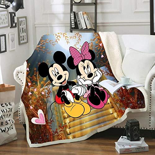 Manta De Mickey Minnie Mouse De Disney, Mantas De Vellón Sherpa De Dibujos Animados, Mantas En La Cama/Cuna/Sofá 150x200cm Regalo para Bebés Y Niñas