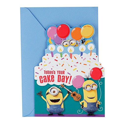 Hallmark Geburtstagskarte Minions Geburtstagskuchen zum Aufziehen