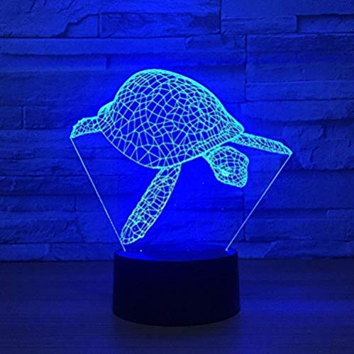 Optical Illusion Lamp Led 7 Colors Changing Sea Turtle Modelling Night Light USB 3D Creative Visual Animal Tortoise Desk Lamp Baby Sleep Lighting Gift