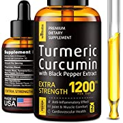 Premium Turmeric Curcumin with BioPerine - 1200mg PER Day - Highest Potency & BIOAvailability - Turmeric Curcumin Supplement Premium Joint & Healthy Inflammatory Support - No-GMO