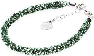 Bracciale Verde in Argento 925 con Cristalli Luminosi Collezione Tennis Colorazione : Mirto 4F