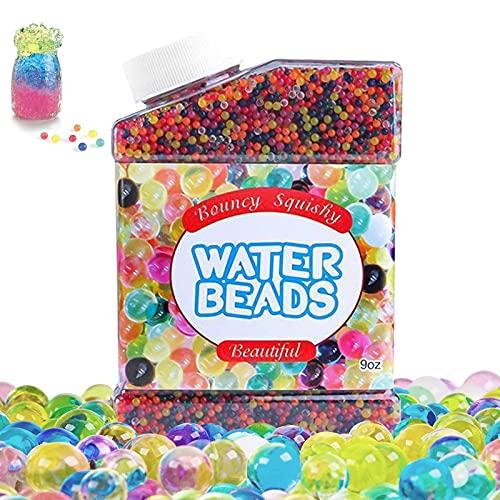 50,000 Piezas Bolas de Gel de Agua, Perla Bolitas de Agua No Tóxicas Crecen en Agua.Water Beads Jarrones Decoración Planta Flores, para decoración pecera y candelabro,Eliminar el olor. (2,5-3,0 Mm)