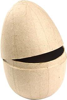décopatch Decopatch Mache Medium Egg Box, 9x9x13cm, Brown