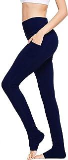 BALEAF Women's High Waist Yoga Pants Over The Heel Tummy Control Tall Leggings Extra LongSide Pocket