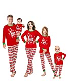 Family Feeling Adult Mens Holiday Christmas Reindeer Matching Family Pajamas Sets Long Sleeve Kids Pjs Size XXL