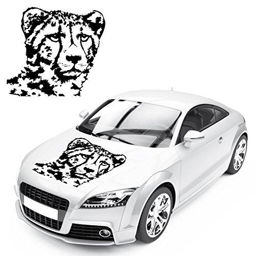 Gepard Aufkleber Raubkatze Tier Motive zum Verkleben Autotattoo Raubtiere Katzen Sticker |KB589