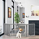 Best Dog Gates - PETMAKER Freestanding Pet Gate - Wooden Folding Fence Review