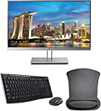 HP EliteDisplay E233 23 Inch 1920 x 1080 (1FH46A8#ABA) Full HD IPS LED Backlit Monitor Bundle with HDMI, VGA, DisplayPort, Gel Mouse Pad, and MK270 Wireless Keyboard and Mouse Combo