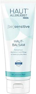 HAKA Hautbalsam sensitiv I 200 ml I Lotion zur Körperpflege, Hautpflege und Gesichtspflege I Parfümfreie Pflegecreme für trockene, strapazierte Haut 200 ml