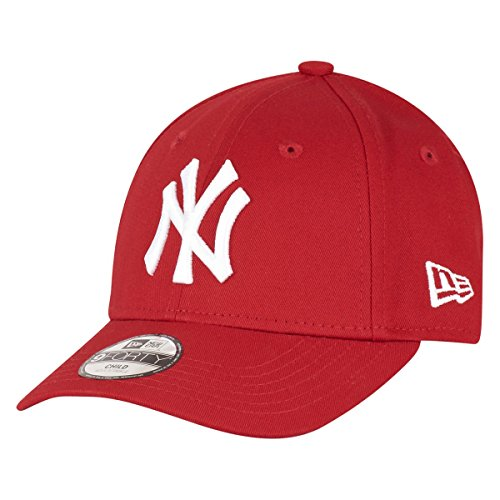 New Era 9FORTY - Gorra unisex para niños, color rojo / blanco,...