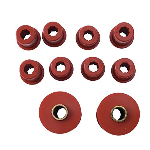 Rugged Ridge 18364.02 Suspension Leaf Spring Bushing Kit, Front; 76-86 Jeep CJ5/CJ7/CJ8, Red