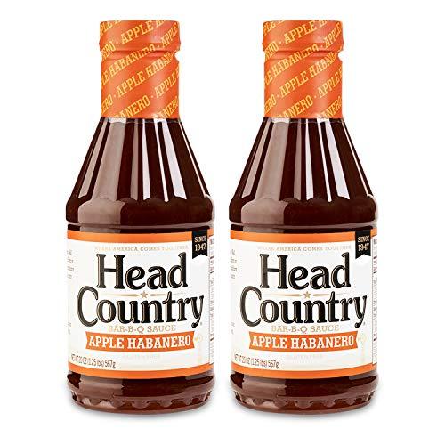 Head Country Bar-B-Q Sauce, Apple Habanero Flavor,...
