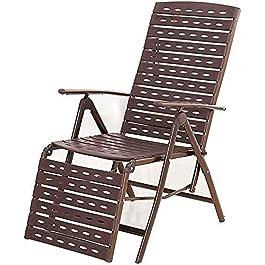 CCAN Office Life Fauteuil inclinable en osier Pause déjeuner Pliant Salon en rotin Chaise de sieste de bureau Balcon à…