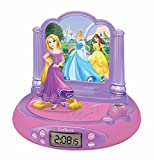 Princesas Disney - RP515DP Rapunzel Radio Despertador con Proyector De Hora...