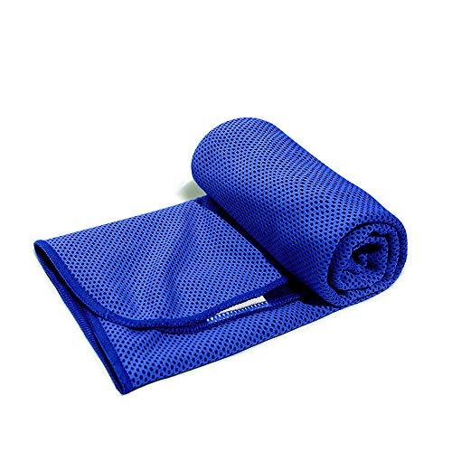 「1+1」冷感タオル クールタオル ひんやりタオル ネッククーラー アウトドア 子供 熱中症 towel 節電 夏 冷たいタオル 冷えるタオル (ブルー(blue))
