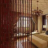 GuoWei-Cortinas de Cuentas Bambú Cuerdas Tabique Colgando Decoración para Habitación Cocina Retro Personalizable (Tamaño : 66 Strings-1.0x2.0m)