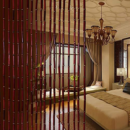 GuoWei-Cortinas de Cuentas Bambú Cuerdas Tabique Colgando Decoración para Habitación Cocina Retro Personalizable (Tamaño : 60 Strings-0.9x2.0m)