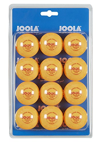 JOOLA Tischtennis-Bälle Training 40mm, Orange 12er Blister Pack