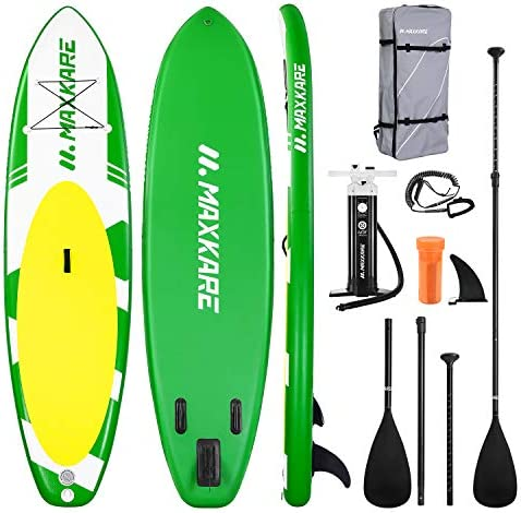 MaxKare Inflatable Paddle Board SUP Stand Up Paddle Board 6 inches Thick Board with SUP Accessories product image