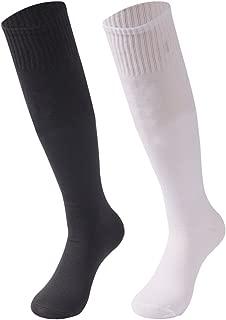 saounisi Unisex Soccer Socks, Sports Knee High Tube Long Team Socks 2/6/10 Pairs