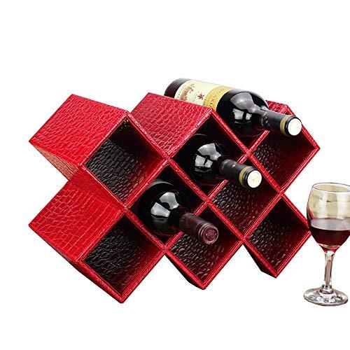 BUSUANZI Estante para Botellas Y Vino Estante Vino 8 Rejillas, Puede Colocar hasta 10 Botellas Vino, Diseño Horizontal,C
