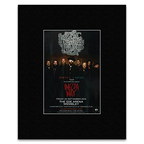 Zac Brown Band - Jekyll and Hyde Tour 2015 Mini Poster - 13.5x10cm