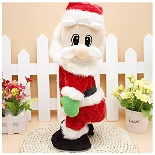 SdeNow Twerking Santa Claus, Musical Shaking Hips Santa Claus Singing Dancing Christmas Santa Claus Toys Xmas Electric Dolls for Kids- English Song