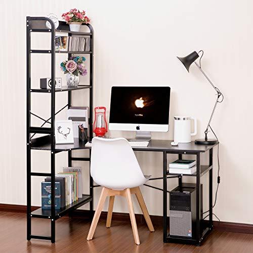 SSLine Computer Desk with Storage Shelves