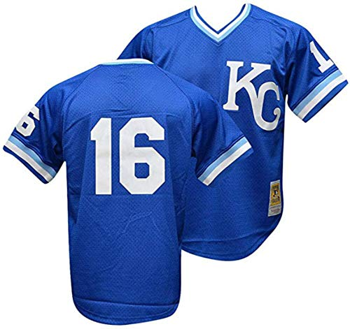 Bo Jackson #16 Kansas City Royals Men's 1989 Mesh Batting Practice Jersey Size 2X-Large 2XL Blue