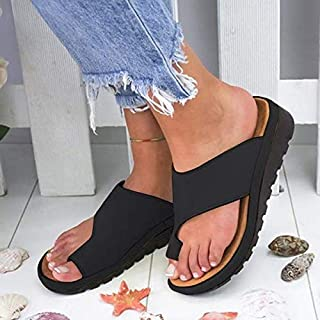 2019 New Fashion Ladies Wedge Heel Sandals Clip Toe Summer Beach Shoes Women Comfy Platform Sandal Shoes NedolQ Thick Bottomed Sandal Shoes for Outdoor/Everyday/Party Coaches' & Referees' Gear Gold, 40
