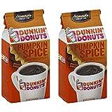 Dunkin Donuts Canela y Especias café molido - (Por bolsa 2 paquete) - American Importado asado Kaffee, 311 gramos (11 onzas...