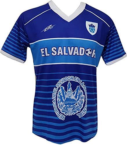 Arza Sports El Salvador Men's Futbol Soccer Jersey (XXX-Large) Blue