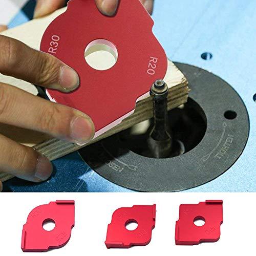szlsl88 3 Teile/Satz Graviermaschine Locator, Positionierung Vorlage Winkel Locator, Holz Router Genaue Radius Vorlagen R5 R10 R15 R20 R25 R30