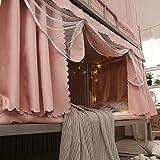 Cama de estudiante cortina opaca tela mosquitera dormitorio integrado Princess wind litera cama 0.9m cama mosquitera de doble uso-Constelación-litera superior ancho 90 * largo 190 * alto 110 cm Otros