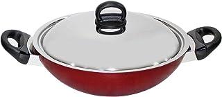 Prestige Classique 30Cm Flat Bottom Kadai, PR21500 Red