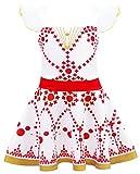 AmzBarley Disfraz de Bailarina de Felicie Vestido de Bailarina de Ballet para niños Fiesta de Rendimiento de niñas 3-4 Años