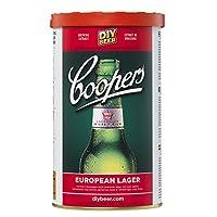 Coopers européen Lager Recharge Ingrédient NÉCESSITE the Addition de 1kg de Brew améliorateur ou sucre, et eau Contient Malt Extract et séparément emballés levure liquide, Instructions figurant au verso de l'étiquette fait 23L/5 gallons / 40 pintes é...