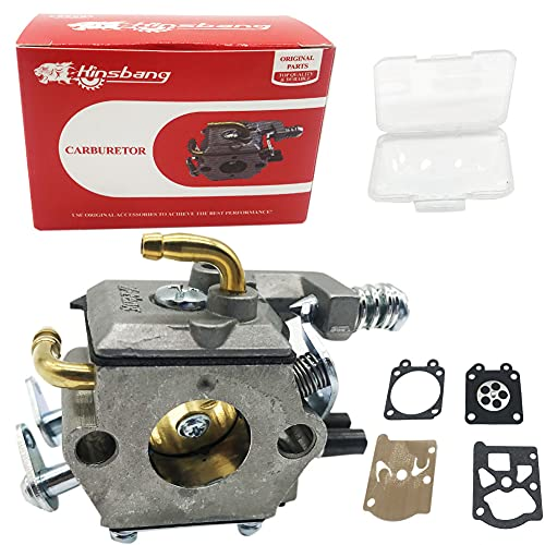 KINSBANG Chinese Chainsaw 5200 Carburetor - with Two Copper Pipe,Die-Casting Aluminum Material,Very Durable,for 45cc 52cc 58cc 4500 5200 5800 Chinese Chainsaw,Super Chainsaw Parts