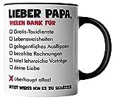 vanVerden Tasse - Lieber Papa vielen Dank für überhaupt alles - Tassen für Vatertag Spruch Vater - beidseitig Bedruckt - Geschenk Idee Kaffeetassen,...