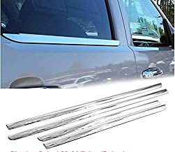 eLoveQ Polished Stainless Steel Chrome Window Sill Trims FOR 2000-2006 Chevrolet Tahoe Suburban