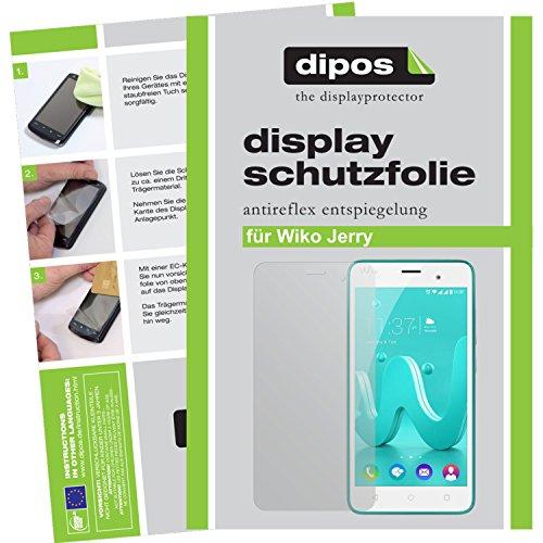 dipos I 2X Schutzfolie matt kompatibel mit Wiko Jerry Folie Bildschirmschutzfolie