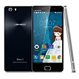 """Foto Leagoo Elite 1 5"""" FHD 4G LTE Smartphone Android 5.1 64bit MTK6753 Octa Core 1.3Ghz 3GB + 32GB 13.0MP Fotocamera Posteriore Tocco ID Doppia SIM Cellulare WiFi GPS Bluetooth FM,Nero"""