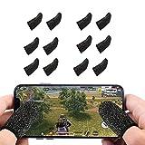 PUBG Mobile Game Finger Sleeves, 5 Pares De Dedos Con Pantalla Táctil, Antisudor, Transpirable, De Alta Sensibilidad, Controlador De Dedos, Mangas Para Pulgar Para Reglas De Supervivencia / Cuchillos