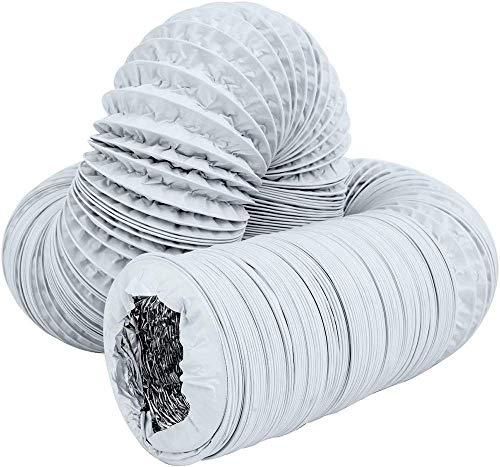 ZXGQF Tubo De Manguera De Aire Acondicionado Kit De Extensión De Conducto De PVC Para Baño, Cocina, Inodoro, Extractor De Hidroponía Tubo De Conducto De Ventilador (ø 110mm/6m,white)