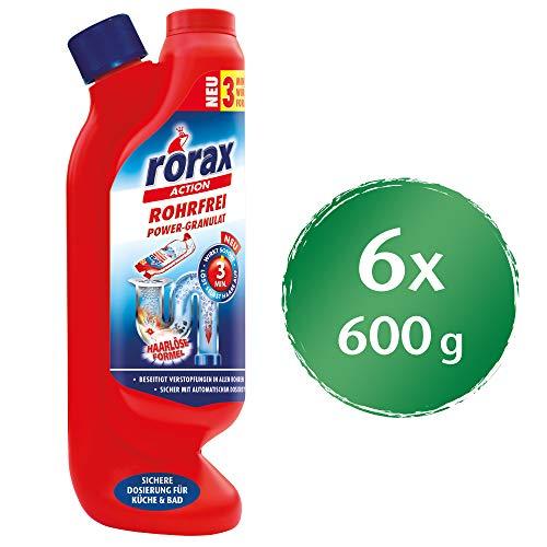 Rorax Rohrfrei Granulat, 6er Pack (6 x 600 g)